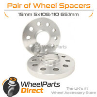 Wheel Spacers (2) 5x108/110 65.1 15mm for Peugeot RCZ 09-15