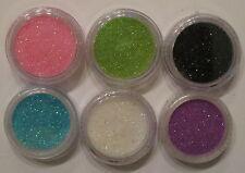 6 pots de paillettes de coloris différent lot B