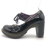 Dr. Martens Lalana Black Leather Lace Up Mary Jane Pumps Women's US 6 / UK 4