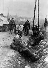 WWII B&W Photo  German Soldiers  Totenkopf  Operation Konrad  WW2 / 2331