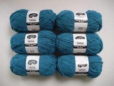 6 x 50g Dark Teal - Moda Vera Yana - Soft Bulky Wool Acrylic Alpaca Yarn