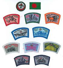SCOUTS OF BANGLADESH - SCOUT MEMBERSHIP RANK AWARD, FLAG & REGION PATCH (12)