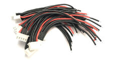 4S Li-Po Balance Cable Silicone 10cm 22AWG wire for A123 Lifepo4 RC Battery x 10