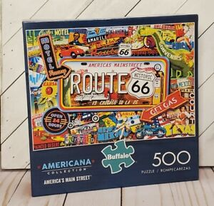NEW Buffalo Americana Collection America's Main Street 500 Piece Puzzle Made USA