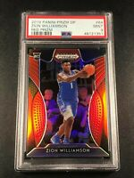 ZION WILLIAMSON 2019 PANINI PRIZM DRAFT #64 RED REFRACTOR ROOKIE RC PSA 9