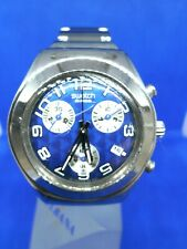 VINTAGE Montre Watch Uhr SWATCH IRONY 2003 BLUE STROKE YMS405G Chronograph Métal
