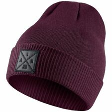 0af90068f92 Jordan Air P51 Burgundy Knit Beanie Hat W embroidered Patch