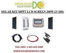 Solar Panel KIT Panneau Solaire 200W 200 W Watt (2 * 100 W) MPPT mono 12V RV