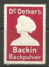 Dr Oetker's backin Sello De Publicidad Polvo De Hornear/etiqueta (C)