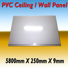 "10 PIECE PACK PVC CEILING / WALL PANEL  ""GLOSS WHITE""  5800 x 250 x 9"