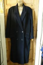 Louis Feraud Vintage Rare Goth Cashmere Wool Angora Black Long Coat 10/12/14