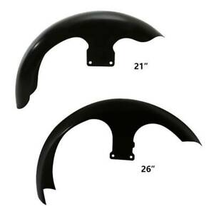"""21"""" 26"""" Wheel Wrap Unpainted Black Front Fender For Harley Touring Street Glide"""