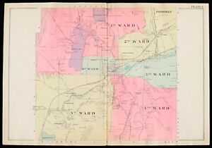1904 BERKSHIRE COUNTY, MASSACHUSETTS LANSBORO TO  RICHMOND LENOX ATLAS MAP