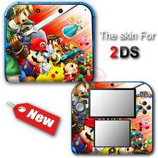 Super Smash Bros Mario Zelda Pokemon SKIN STICKER DECAL COVER for Nintendo 2DS