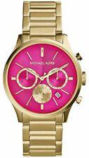 Michael Kors MK5909 Bailey Chronograph Gold-Tone Pink Dial  Women Watch