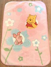 New ListingDisney Baby Winnie the Pooh Piglet Flowers Pink Baby Blanket Soft Fleece