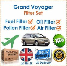For Chrysler Grand Voyager 2000-2007 Oil Air Fuel Pollen Filter Set New
