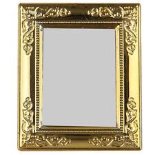 1/12 Dollhouse Golden frame mirror R4E9