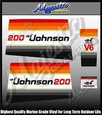 JOHNSON - 200 hp - SEAHORSE - OUTBOARD  DECALS