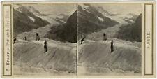 Photo A. Braun Stéréo Albuminé Oberland Bernois Suisse Vers 1865/70