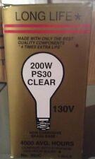 (Lot of 5) Long Life 200 Watt Ps30 130 v. Mogul base clear bulb