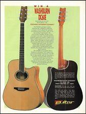 1988 Washburn DC60E Lexington Series electro-acoustic guitar 8 x 11 ad print