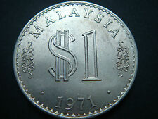 1971 Malaysia $1 Coin, London Mint