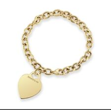 Tiffany & Co 18k Yellow Gold Heart Tag Link Bracelet