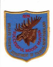 1979 RARE MINT CONDITION MICHIGAN SUCCESSFUL DEER HUNTER PATCH BEAR TURKEY
