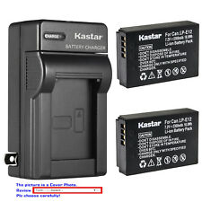 Kastar Battery AC Wall Charger for Canon LP-E12 LC-E12 Canon PowerShot SX70 HS
