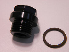 Short fuel inlet plug 26-144-1 (black) 8AN o-ring threads for 4150 Ultra HP bo