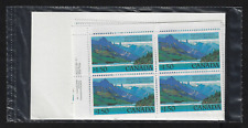 Canada Stamps — Matched Set of Plate Blocks — 1982, Waterton Lakes #935 — MNH