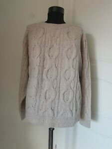 'S MaxMara cashmere and wool cable knit jumper, Size XL, RRP £355