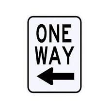 One Way Left Arrow Sign Municipal Grade D.O.T. Street Parking Road R6-2LRA9RK