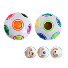Magic Ball Shaped Creative Twist Toy Rainbow and White Spherical Cube Puzzle