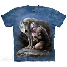 Anne Stokes/Mountain T Shirt of Wolven Protector     Size Medium