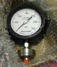 "REOTEMP MS8PTAM2P21HI Process Pressure Gauge, Inert Gas-Filled 4-1/2"" Dial 0-300"