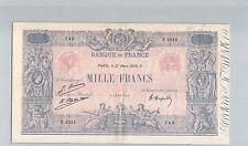 FRANCS 1000 FRANCS BLEU ET ROSE 31 MARS 1926 F.2212 N° 55280749 PICK 67j