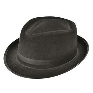 Black Blues brothers Hat Fancy Dress Accessory - felt