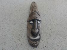 1960 Sepik Mask Tribal Ancestor or Lodge Figure with cowrie shell eyes