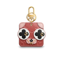 BNIB Authentic Louis Vuitton Puppy Animal Face Bag Charm and Key Holder