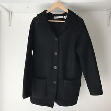 Marco Polo Womens Black 100% Pure Wool Cardigan / Jacket, Size Small / AU 10