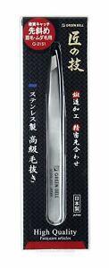 Takumi Green Bell Stainless steel luxury tweezers (earlier diagonally) G-2151