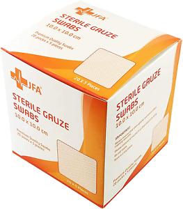 Premium Sterile Gauze Swabs 10cm x 10cm - Pack of 100