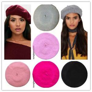 Ladies French Beret Hats Womens Cute Beanie Cap Autumn Winter Fashion Accessory