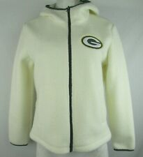 Greenbay Packers NFL G-III Women's White Full-Zip Lightweight Fleece Jacket