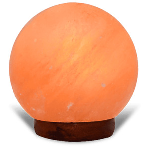 Himalayan Natural Pink Salt Lamp Ease Anxiety, Eczema and Insomnia Sphere-shaped