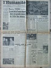 L'Humanité - (22/23 juil 1945) Sort de la France - De Gaulle à Brest - Unité