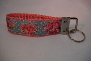 Handgefertigtes Schlüsselband Vintage Rosen ca. 10 cm