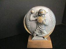 "Baseball Pitching Trophy 5"" Pewter and Bronze, Girl Pitcher"